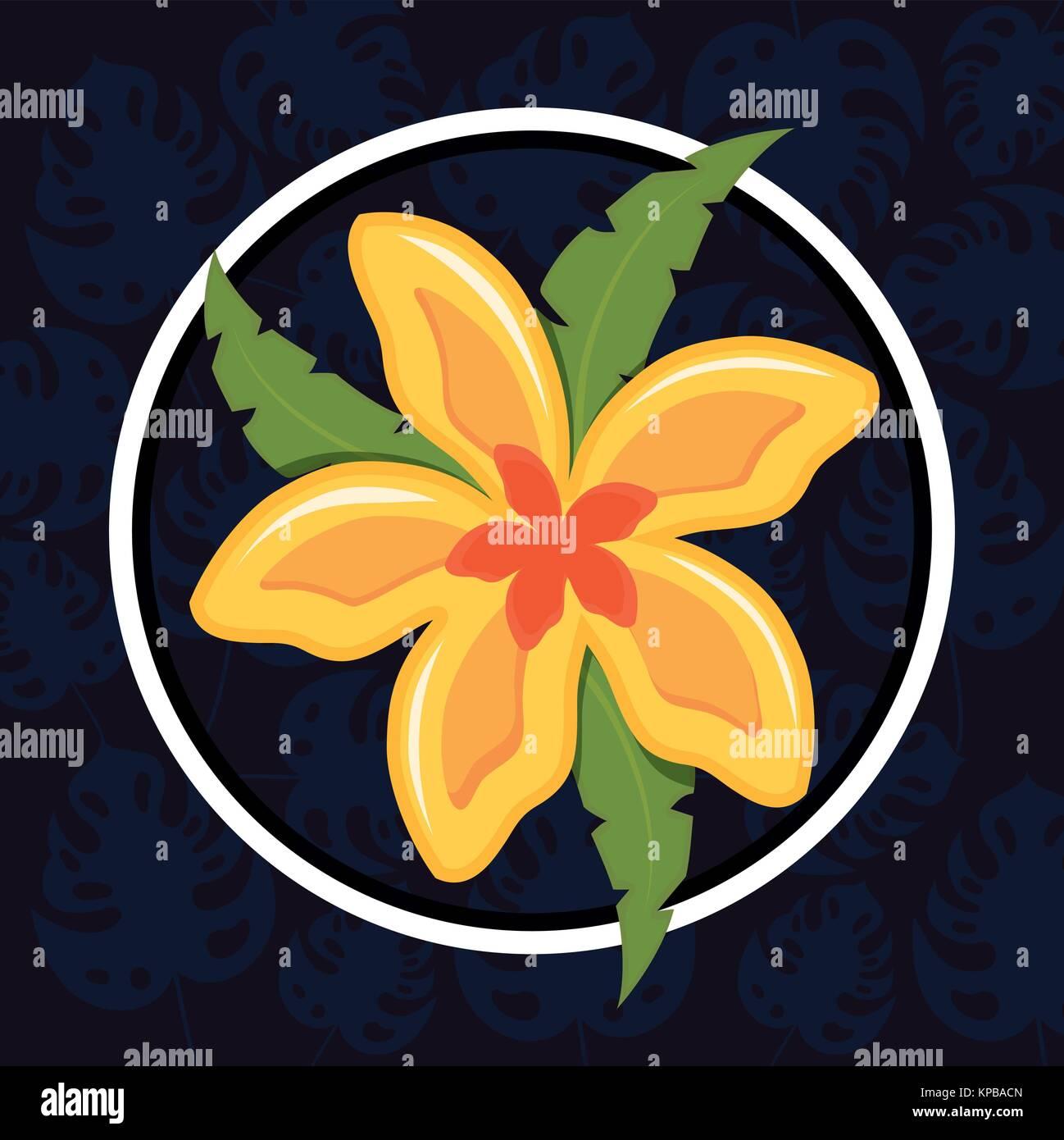 Beautiful exotic tropical flower stock vector art illustration beautiful exotic tropical flower izmirmasajfo