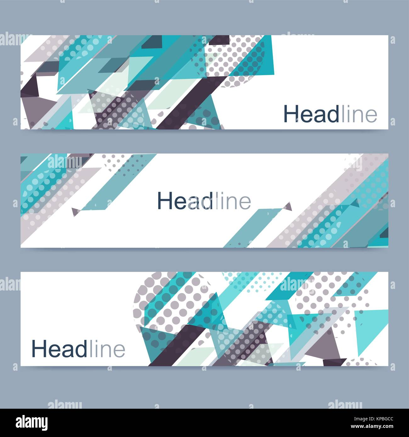Geometric Set Of Modern Vector Banners Abstract Design Banner Web