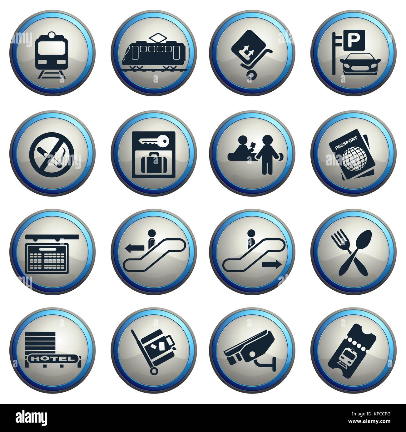 Train Station Symbols Stock Photo 168689208 Alamy