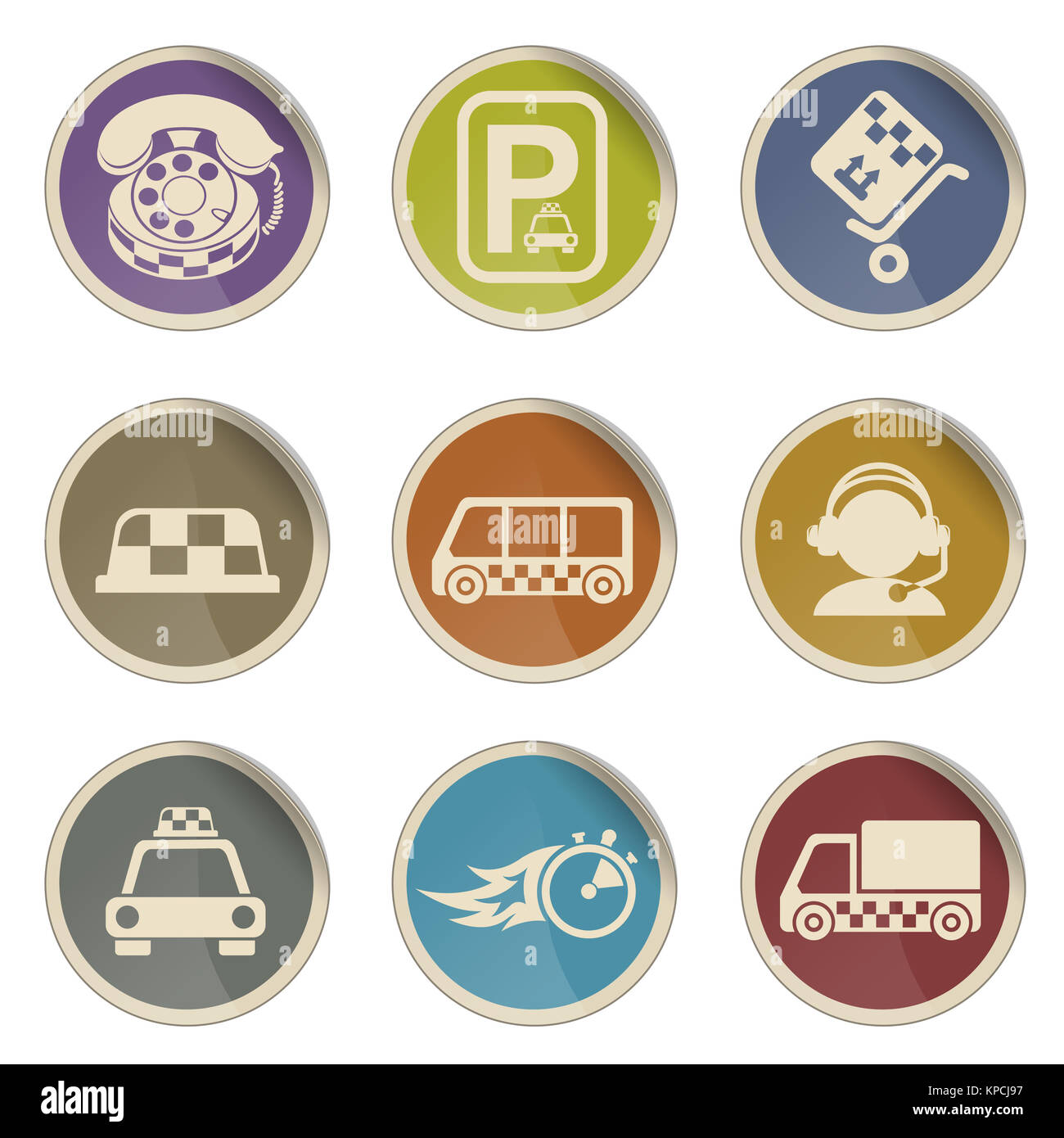 Symbols Of Taxi Services Stock Photo 168693539 Alamy