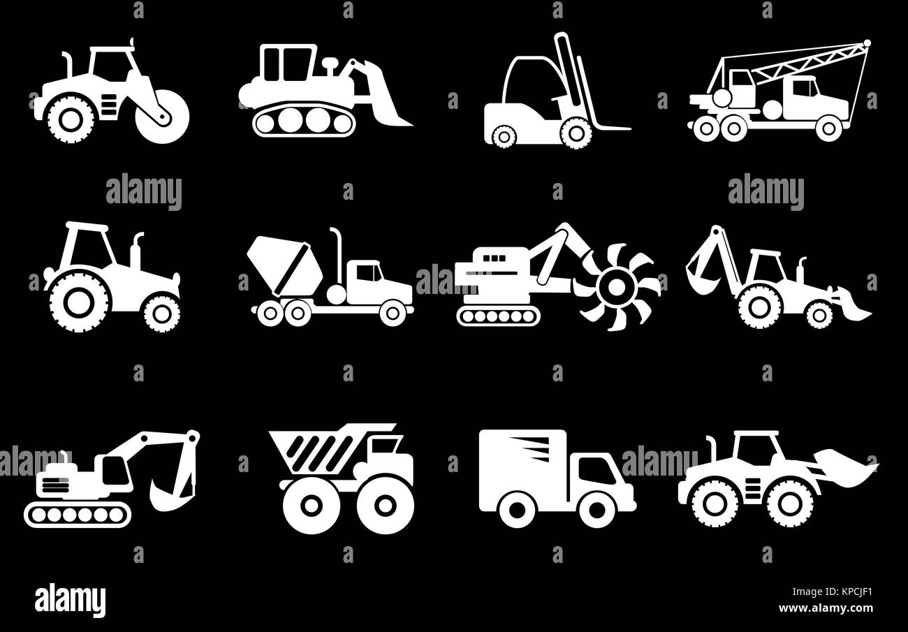 Symbols of construction machines stock photo royalty free image symbols of construction machines buycottarizona Image collections