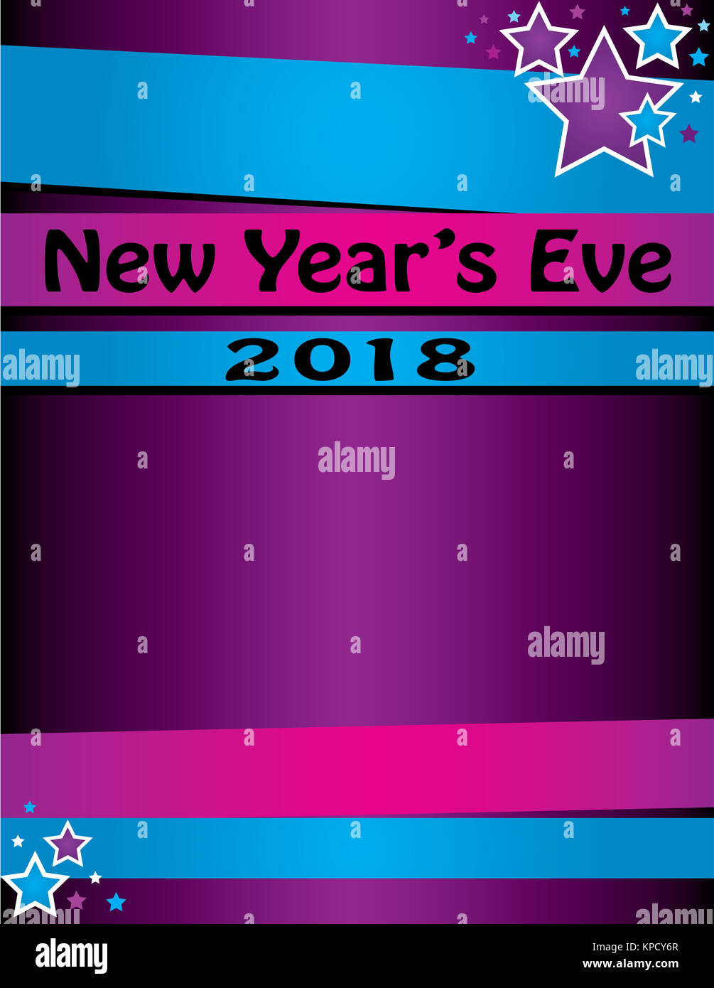 new years eve party for 2018 poster or invitation template bright colors for celebration