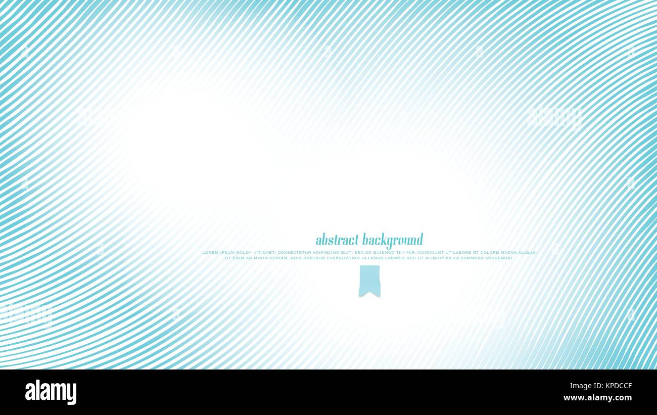Blue Lines Over White Background Vector Abstract Waves Wallpaper Dynamic Banner Design Striped Bright Frame