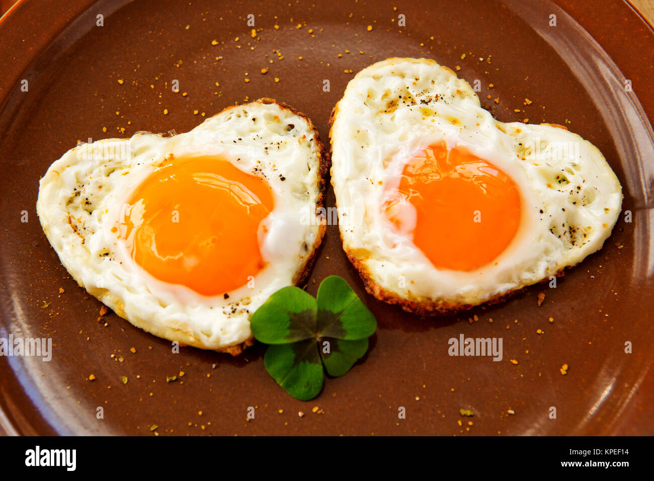 Fried Egg On A Plate (Path) Royalty Free Stock Photography ...  |Fried Eggs On A Plate