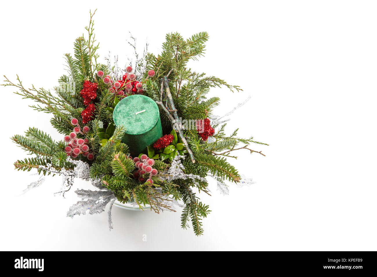 Artificial Christmas Tree With Snow And Pine Cones