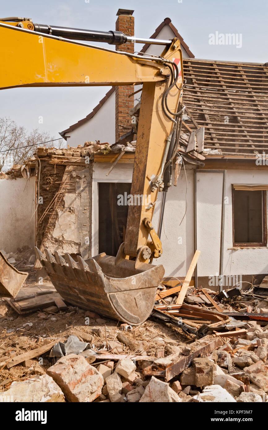 Demolition debris removal stock photos demolition debris for Classic house tracks