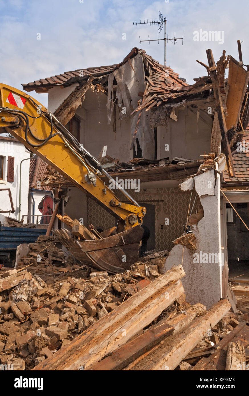 Demolition debris removal stock photos demolition debris for Classic house track with saxophone