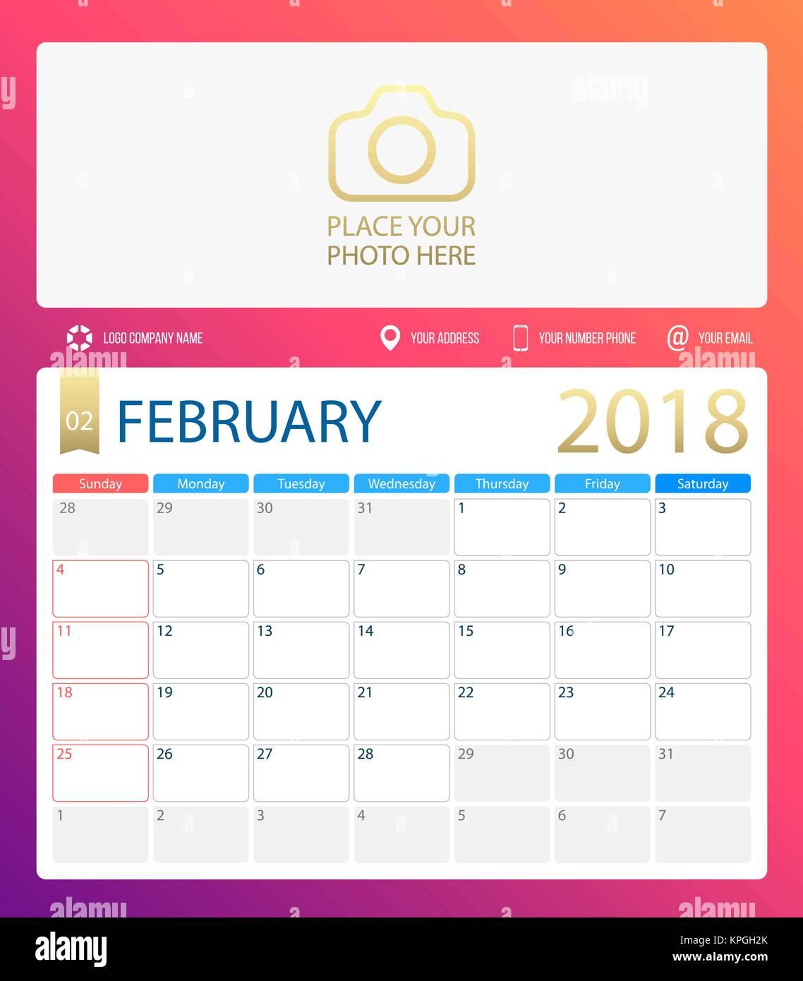 February Calendar Illustration : Calendar stock vector images alamy