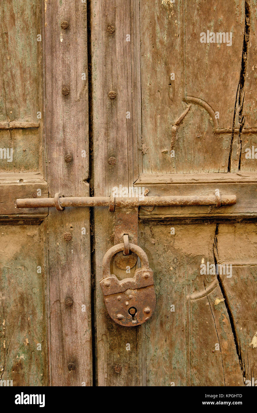 Locked door in a small gully (alley) in Delhi India & Locked door in a small gully (alley) in Delhi India Stock Photo ...