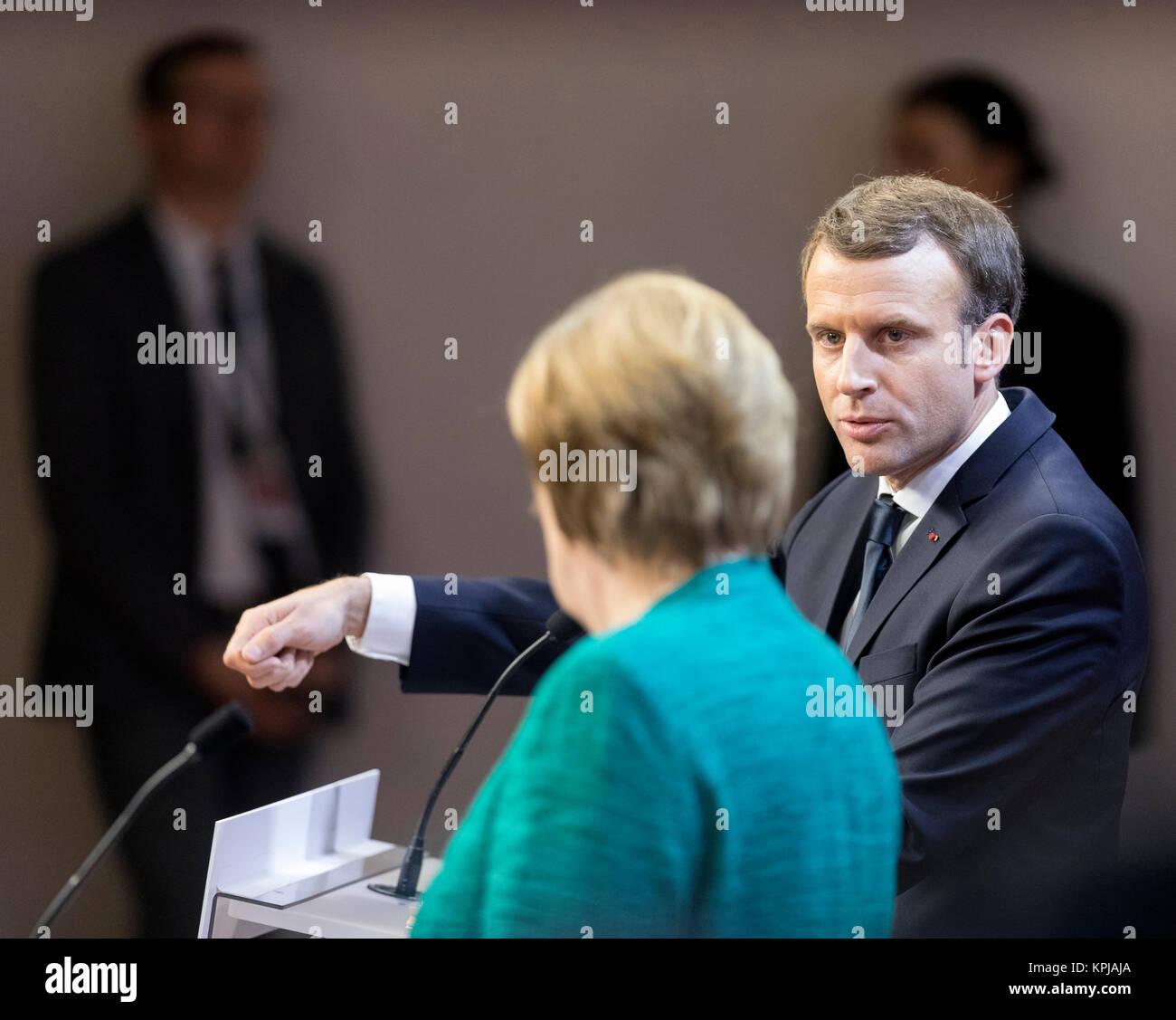 Maurits Hendriks Netherlands Prime Minister Mark Rutte L: Macron Merkel Stock Photos & Macron Merkel Stock Images