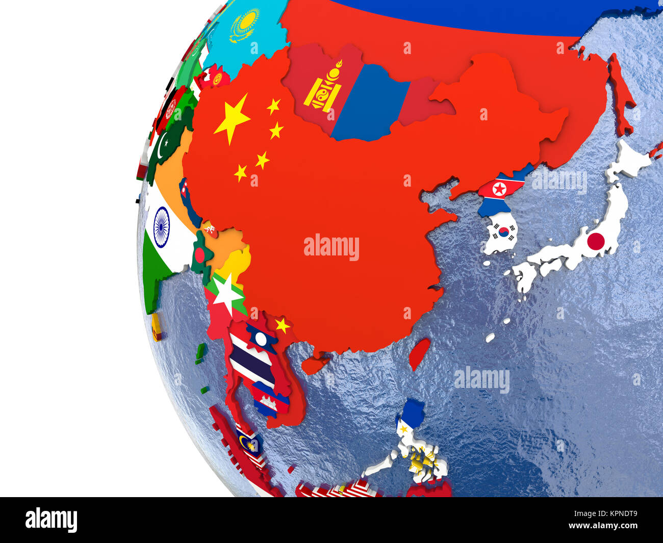 Political East Asia Map Stock Photo 168887609 Alamy