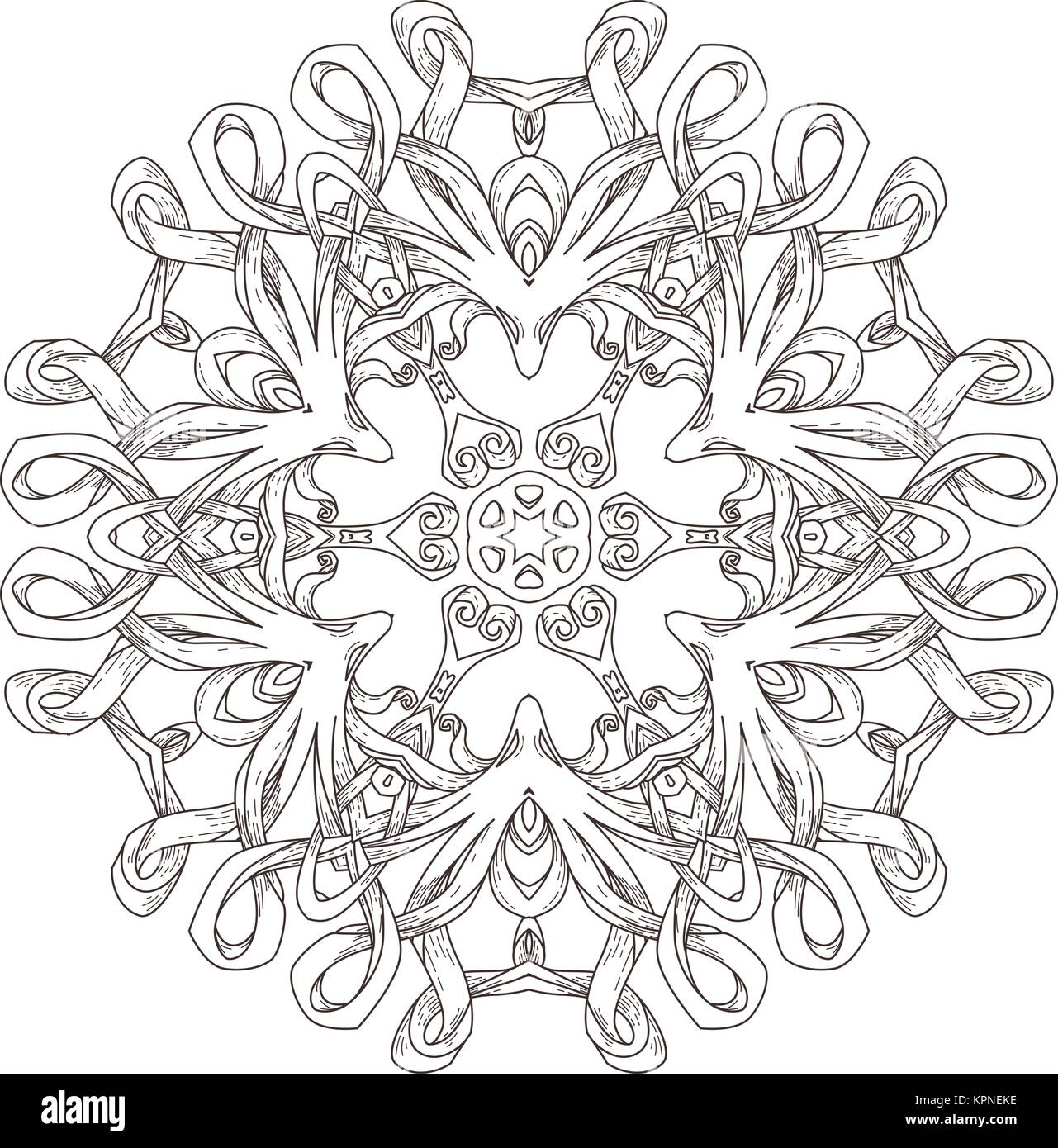 Mandala. Abstract decorative background. Islam, Arabic, oriental ...