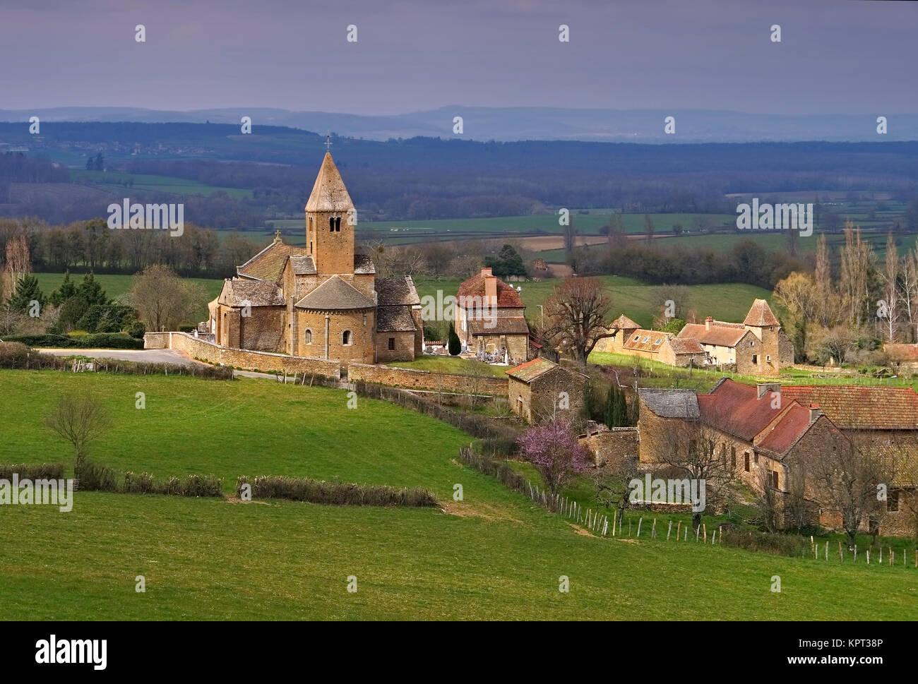 La chapelle sous brancion stock photos la chapelle sous for Chambre agriculture bourgogne