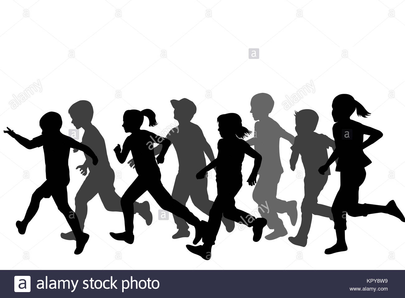 little girl running black and white stock photos amp images