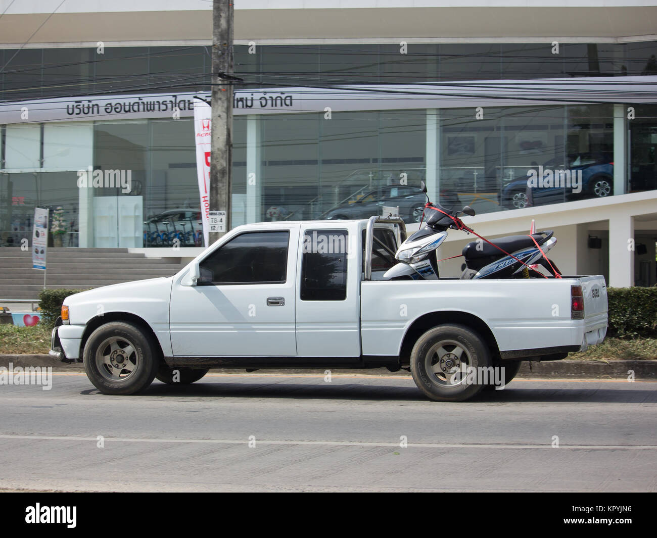 CHIANG MAI, THAILAND -NOVEMBER 28 2017: Private Old Isuzu Pickup ...