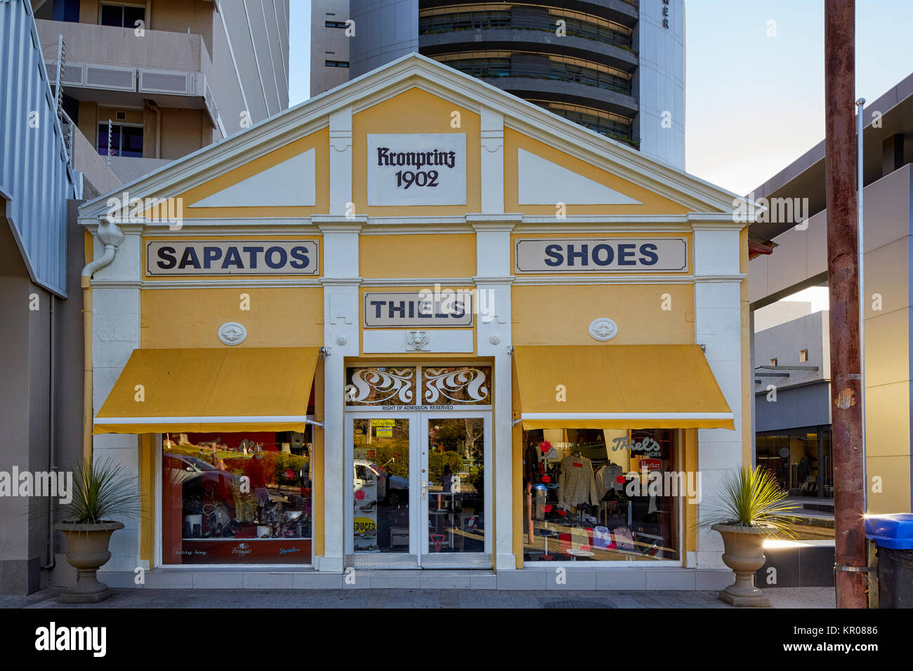 Traffic Shoe Store In The Mall