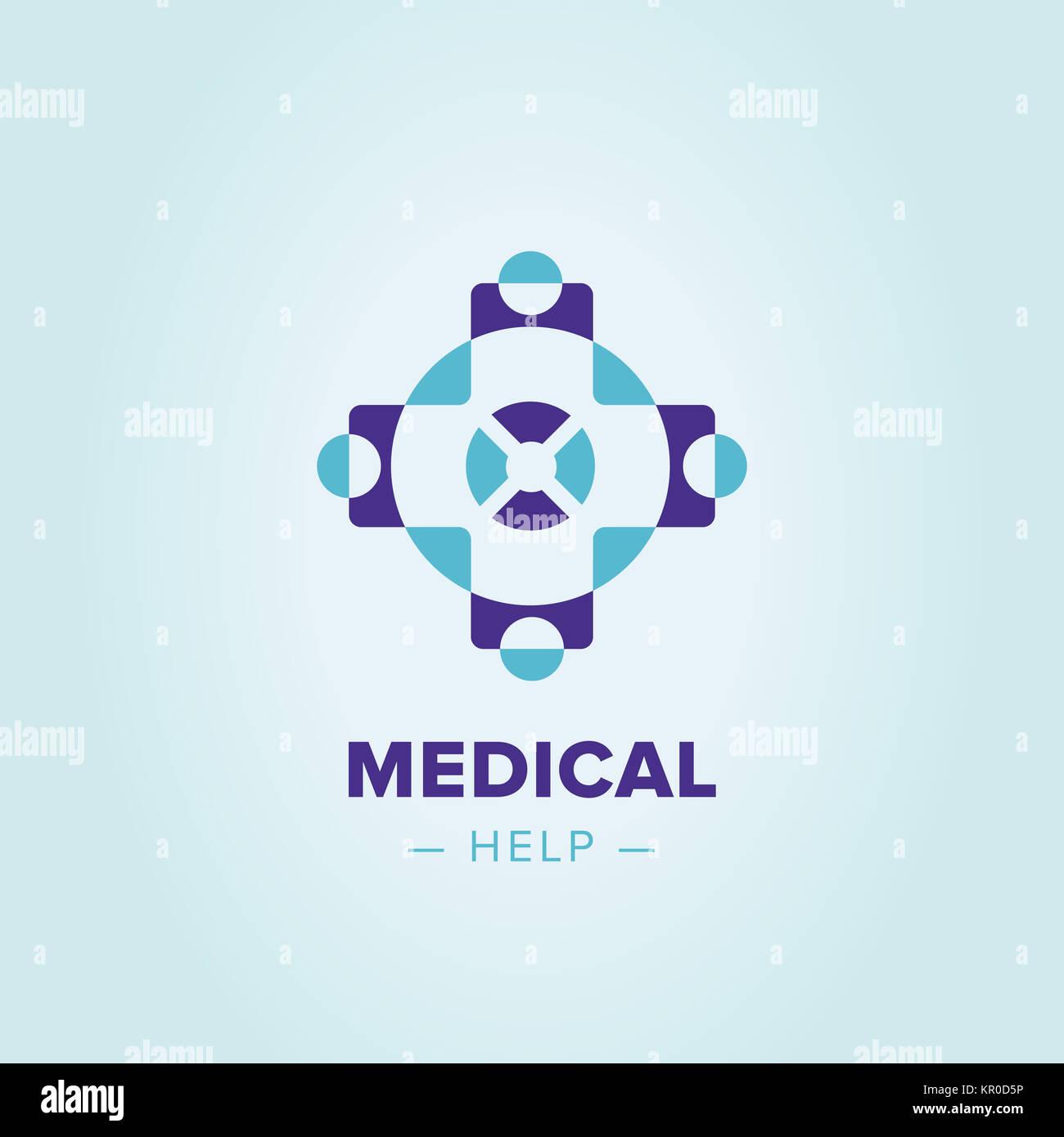 medic cross logo template stock photo 169040754 alamy
