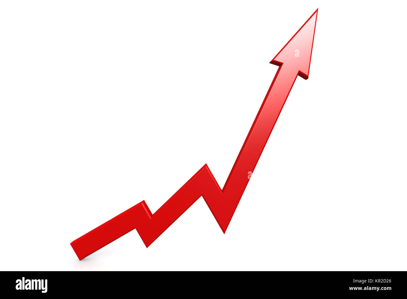 Red Arrow Point Up Stock Photo 169084558 Alamy