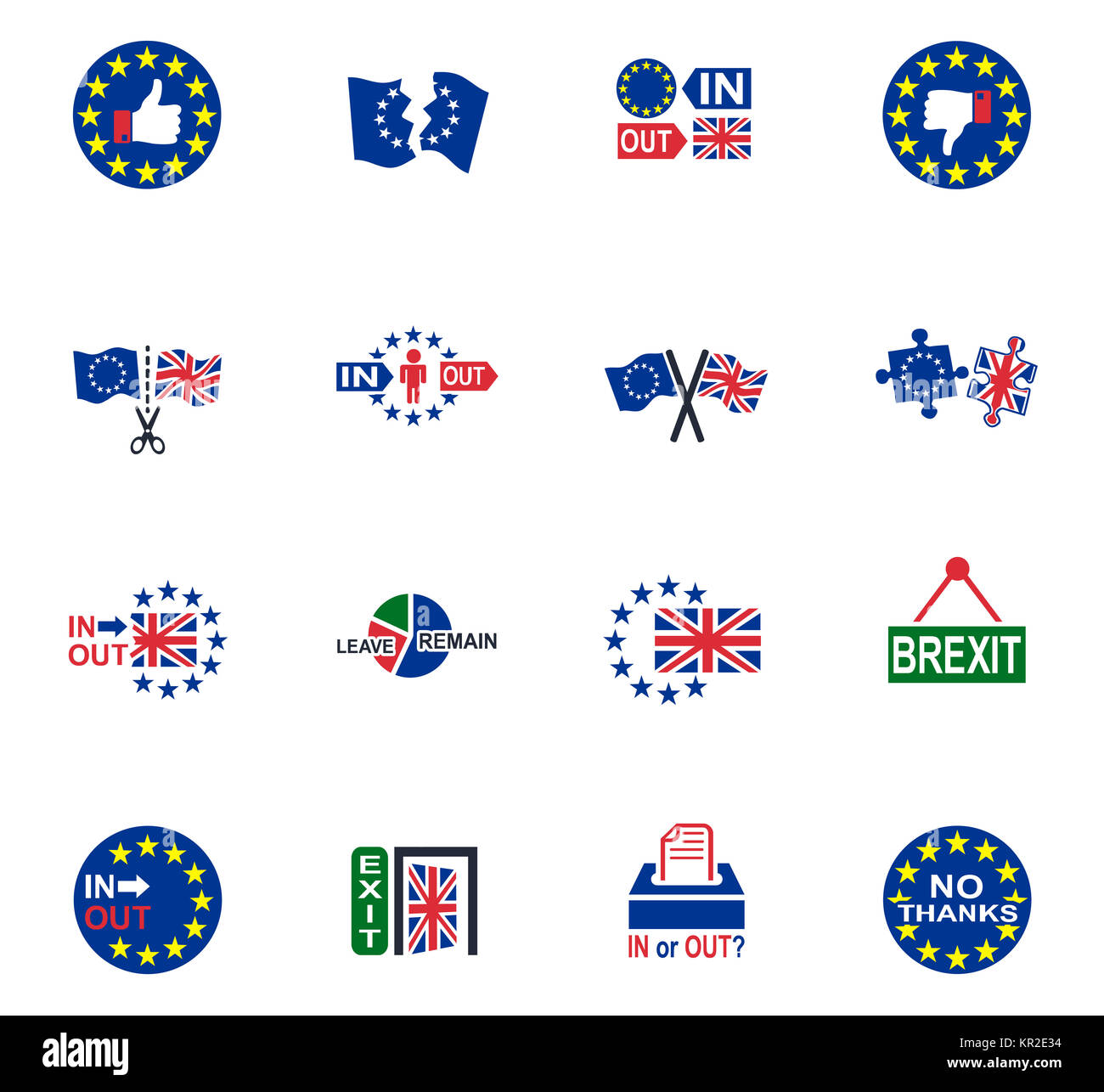 Vector Symbol Of Brexit Stock Photo 169085368 Alamy