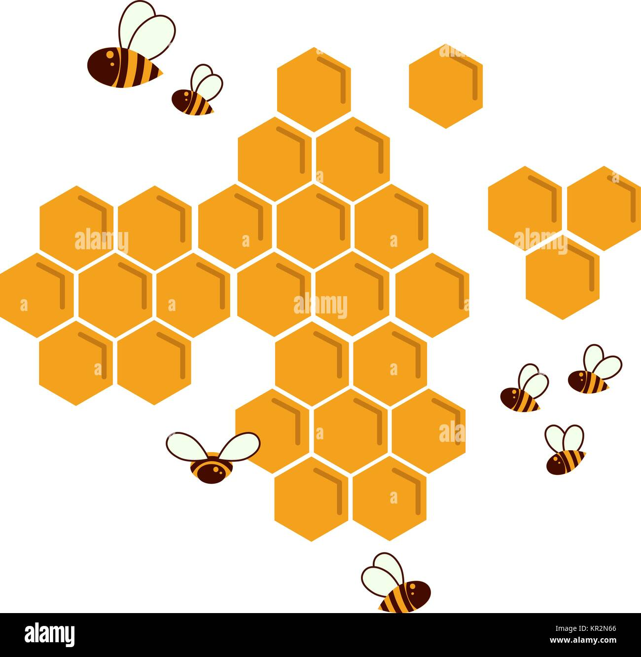 Icon Bee Honeycomb Hexagon Natural Honey Struct Vector Illustration Insects And For Infographics Or Web