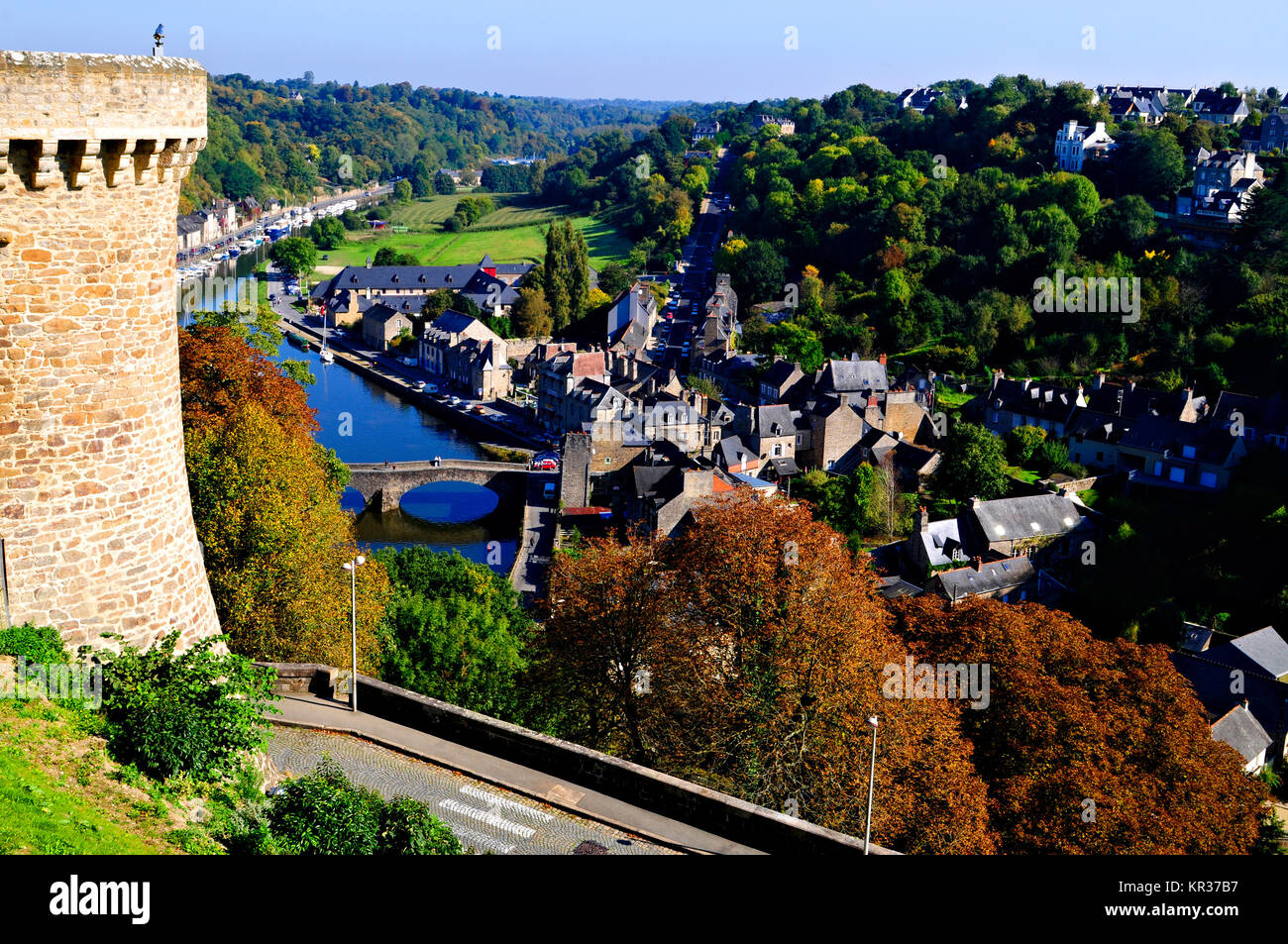 France brittany dinan port river stock photos france for Jardin anglais guingamp