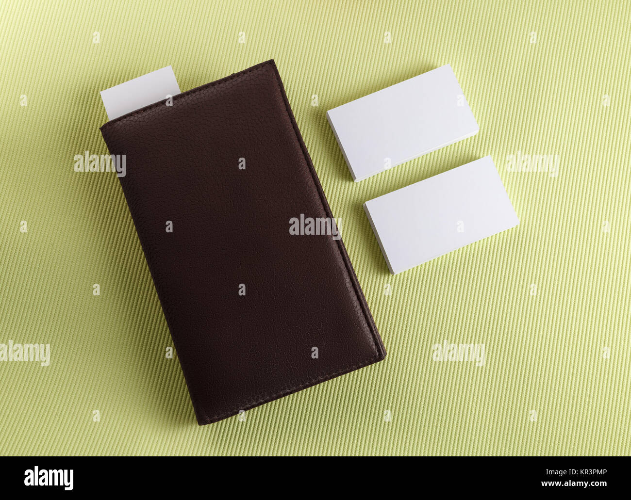 Notepad with business cards Stock Photo, Royalty Free Image ...