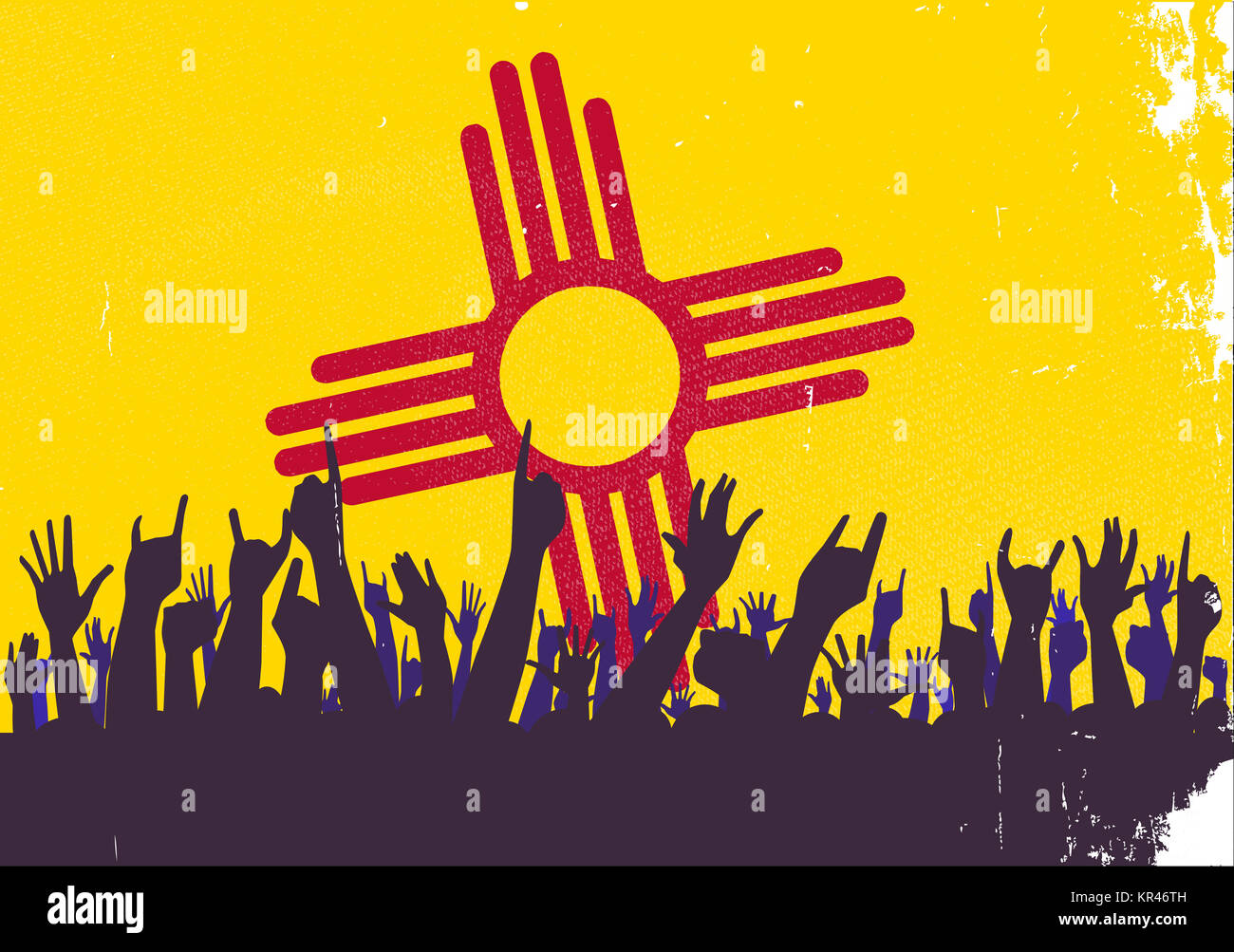 New mexico state flag with audience stock photo royalty free new mexico state flag with audience buycottarizona