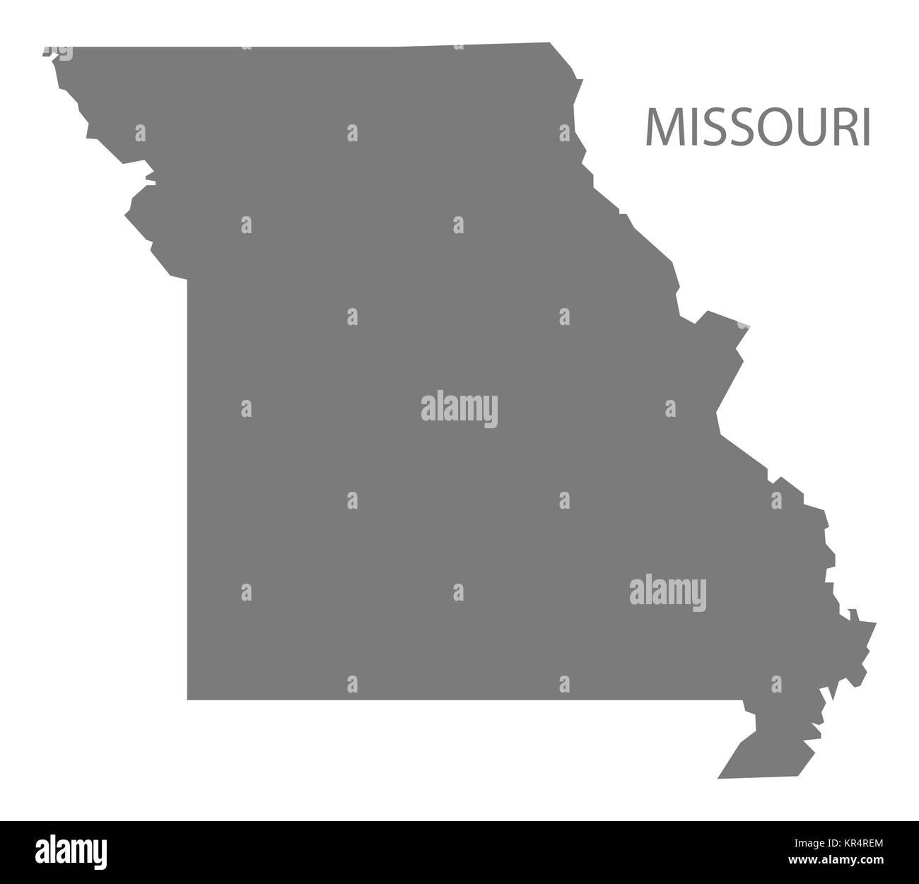 Missouri USA Map In Grey Stock Photo Royalty Free Image - Missouri usa map