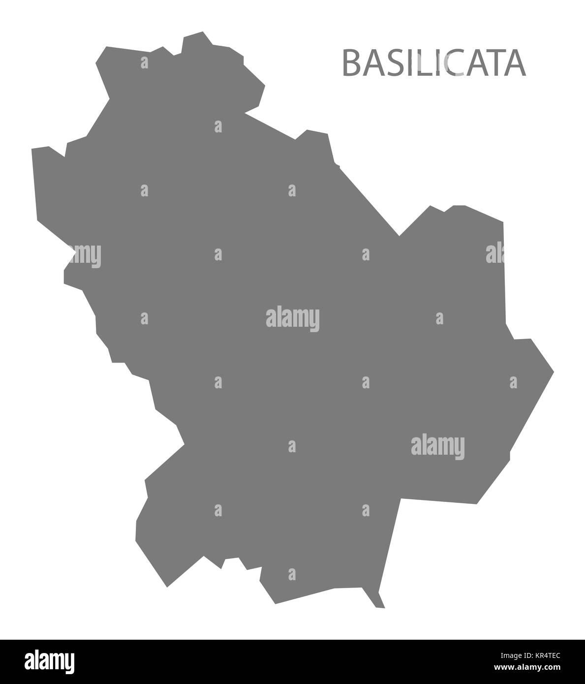 Basilicata Italy Map grey Stock Photo 169137428 Alamy