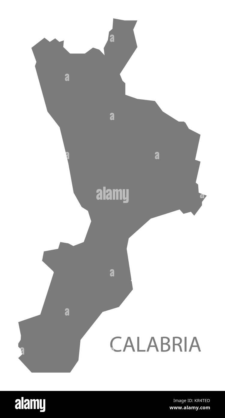 Calabria Italy Map grey Stock Photo: 169137429 - Alamy