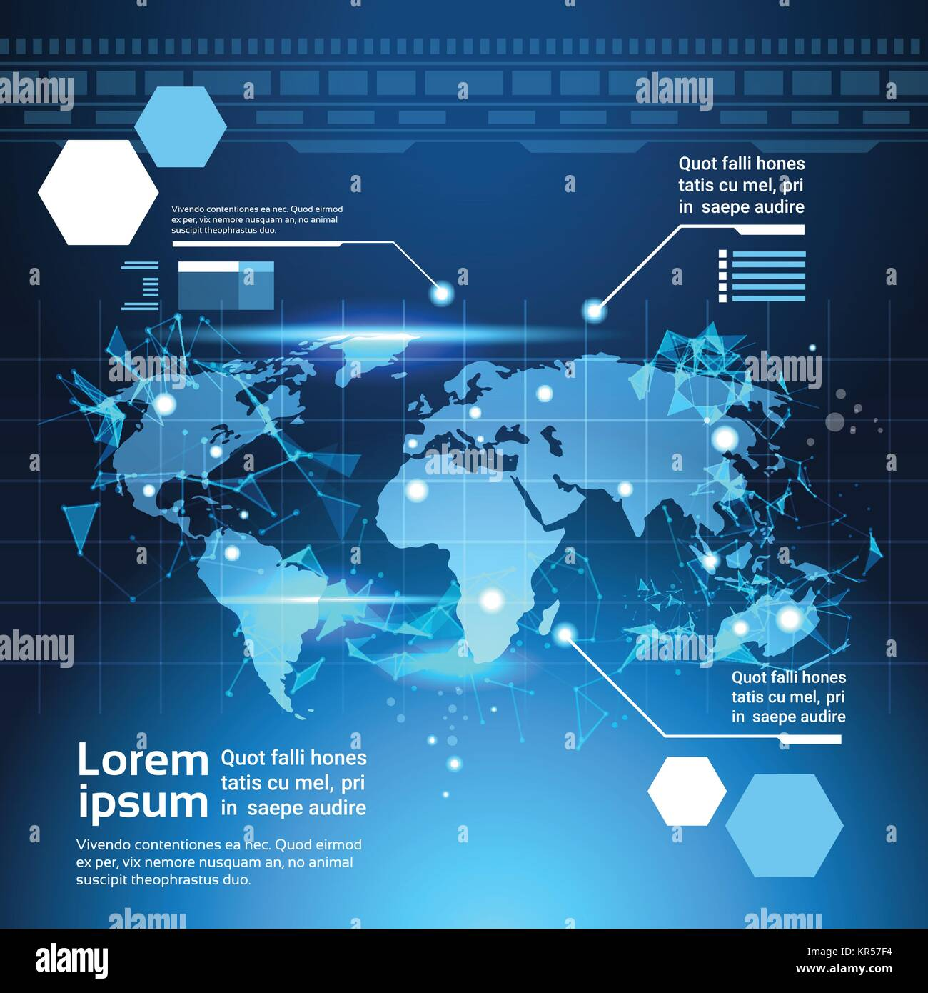 World map background set of computer futuristic infographic world map background set of computer futuristic infographic elements tech template charts and graph gumiabroncs Gallery