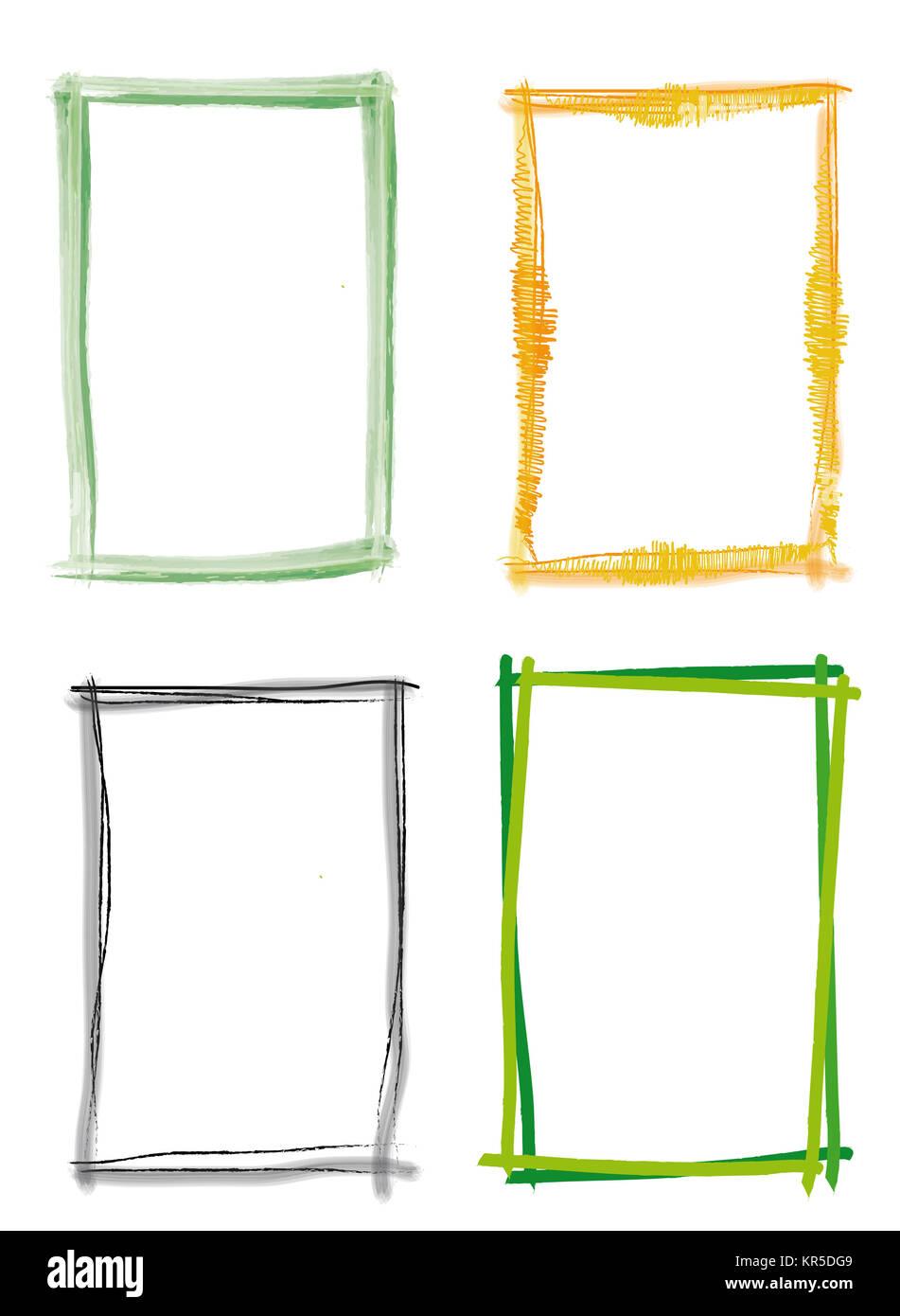 Rahmen Pinsel Strich grün Stock Photo: 169150809 - Alamy