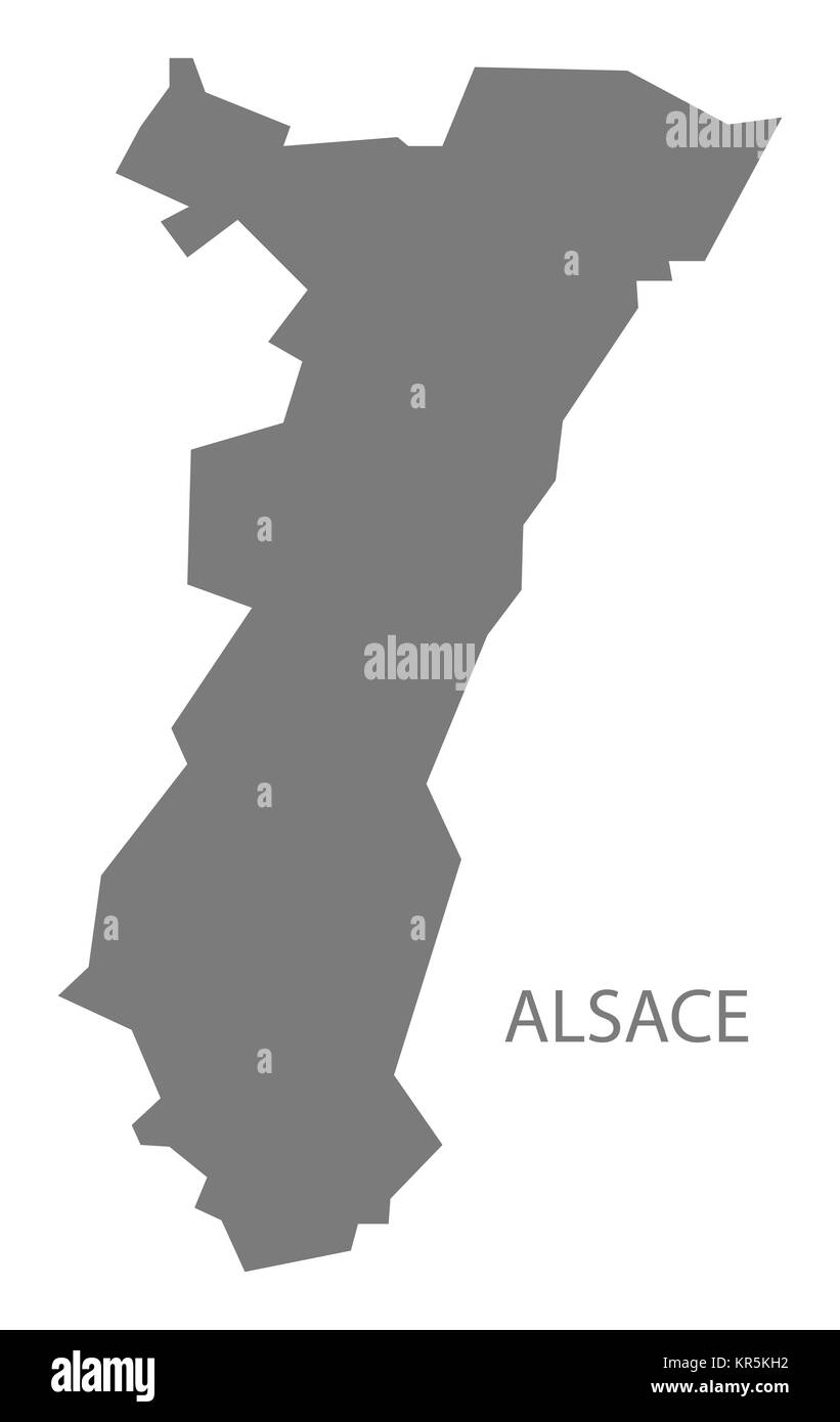 Alsace France Map grey Stock Photo Royalty Free Image 169155534