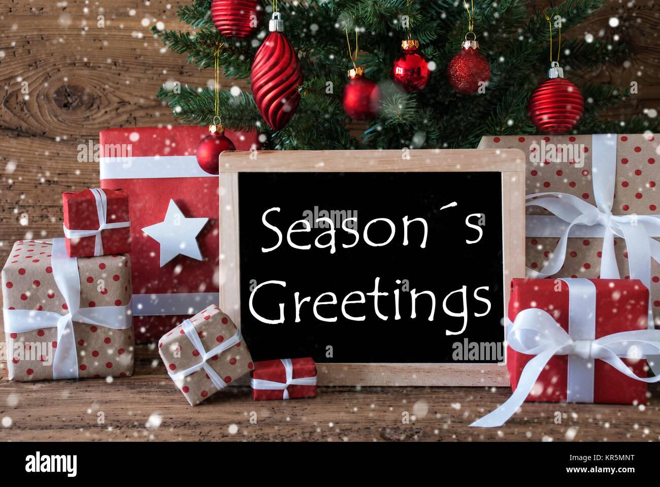 Seasons greetings christmas stock photos seasons greetings colorful christmas tree with snowflakestext seasons greetings stock image kristyandbryce Images