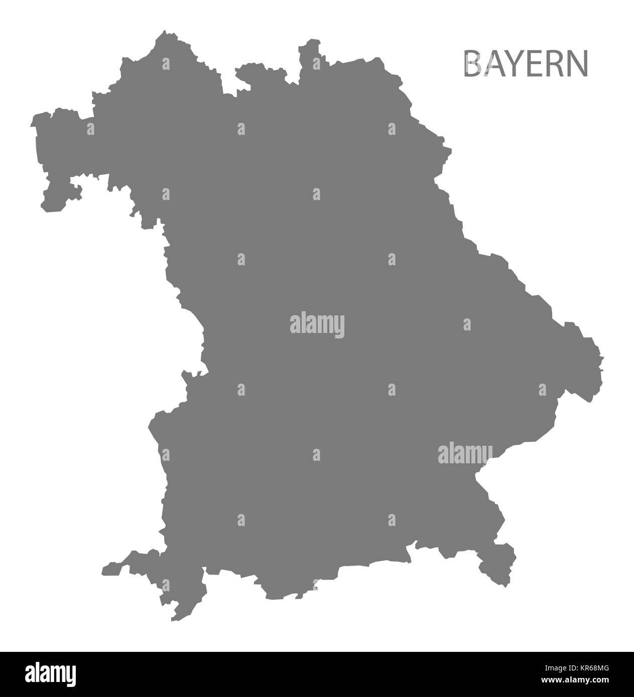 Bayern Germany Map Grey Stock Photo 169168960 Alamy