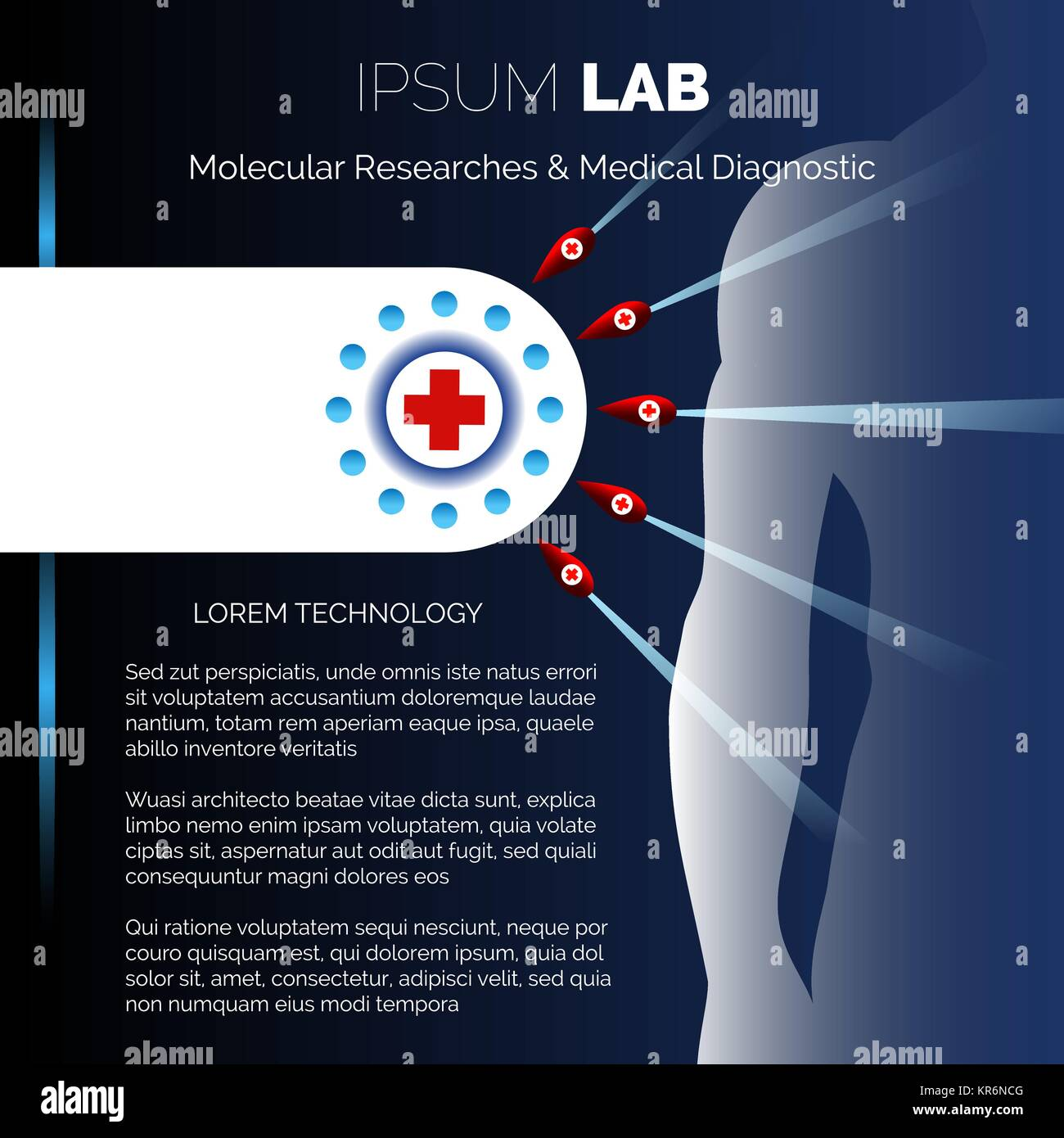 Medical research center or laboratory booklet design template ...