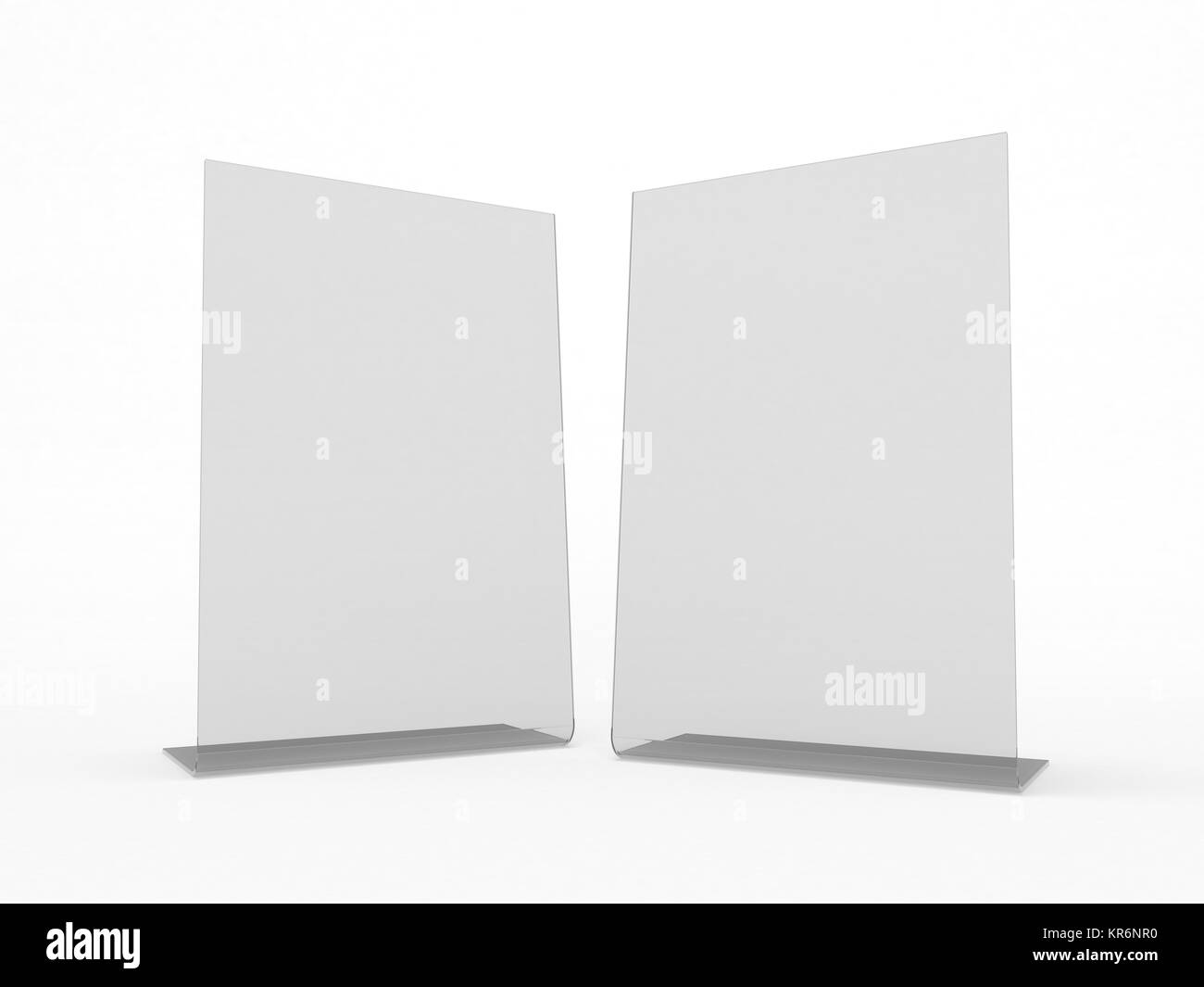 Mock up menu frame on table. 3D rendering Stock Photo: 169179220 - Alamy
