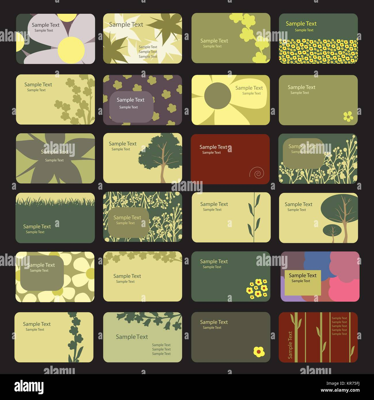 24 Colorful Business Cards with Abstract Designs - Illustration in ...