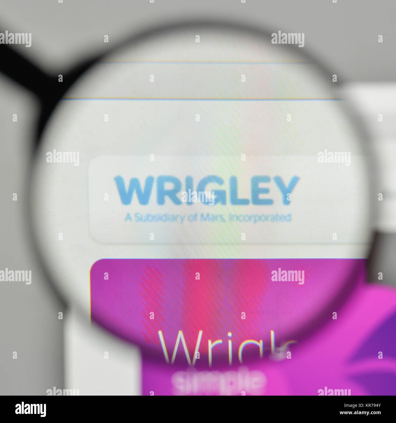 Milan italy november 1 2017 wrigleys logo on the website stock milan italy november 1 2017 wrigleys logo on the website homepage altavistaventures Images