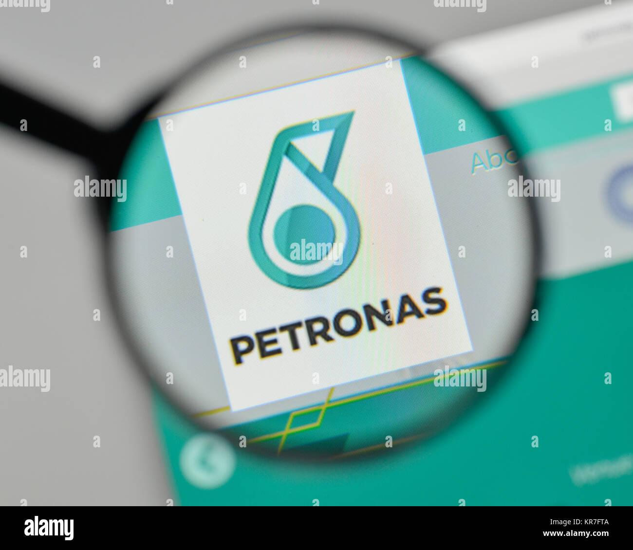 Petronas logo stock photos petronas logo stock images alamy milan italy november 1 2017 petronas logo on the website homepage buycottarizona Gallery