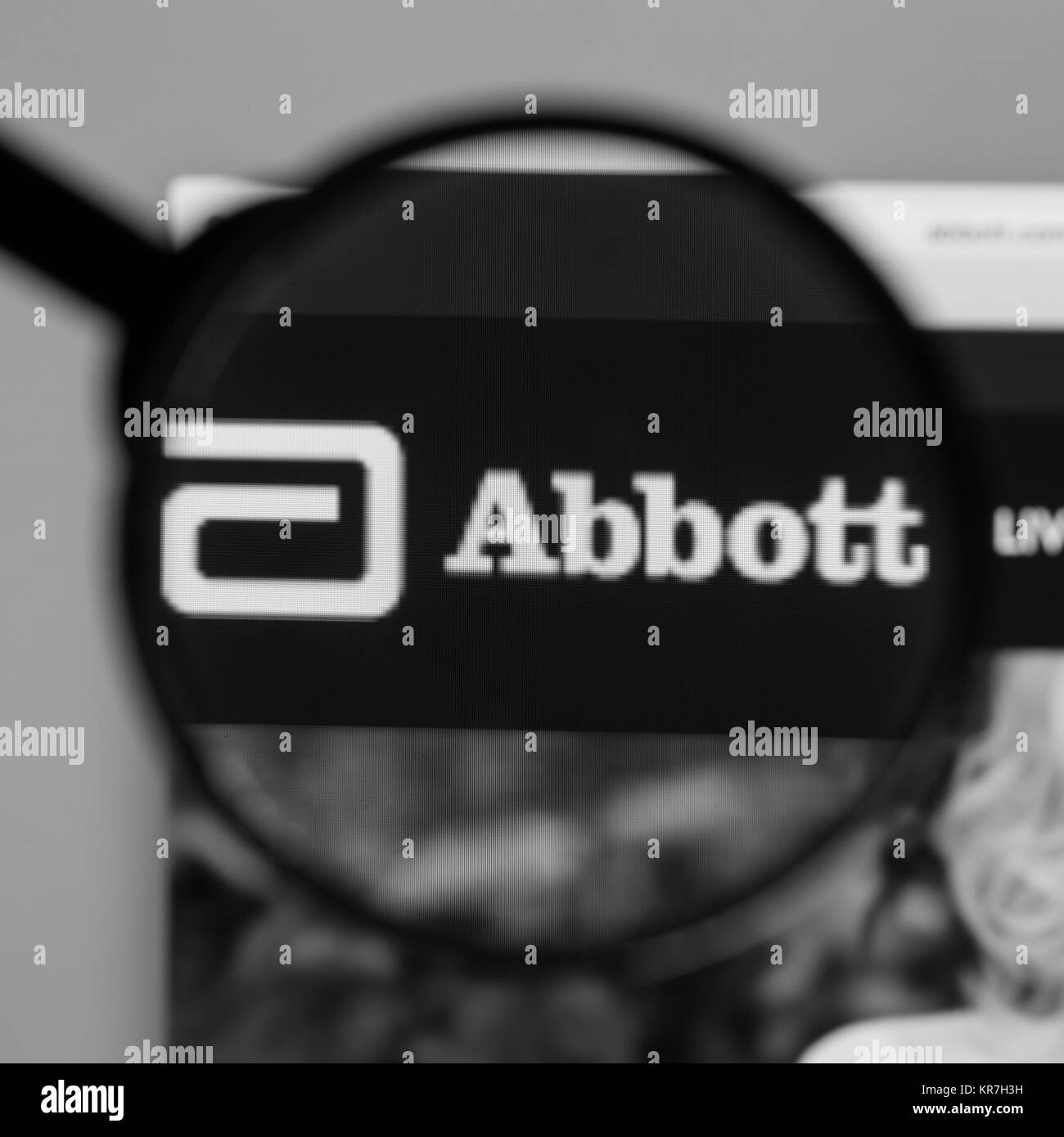 Nyse black and white stock photos images alamy milan italy august 10 2017 abbott website homepage it is an buycottarizona Gallery