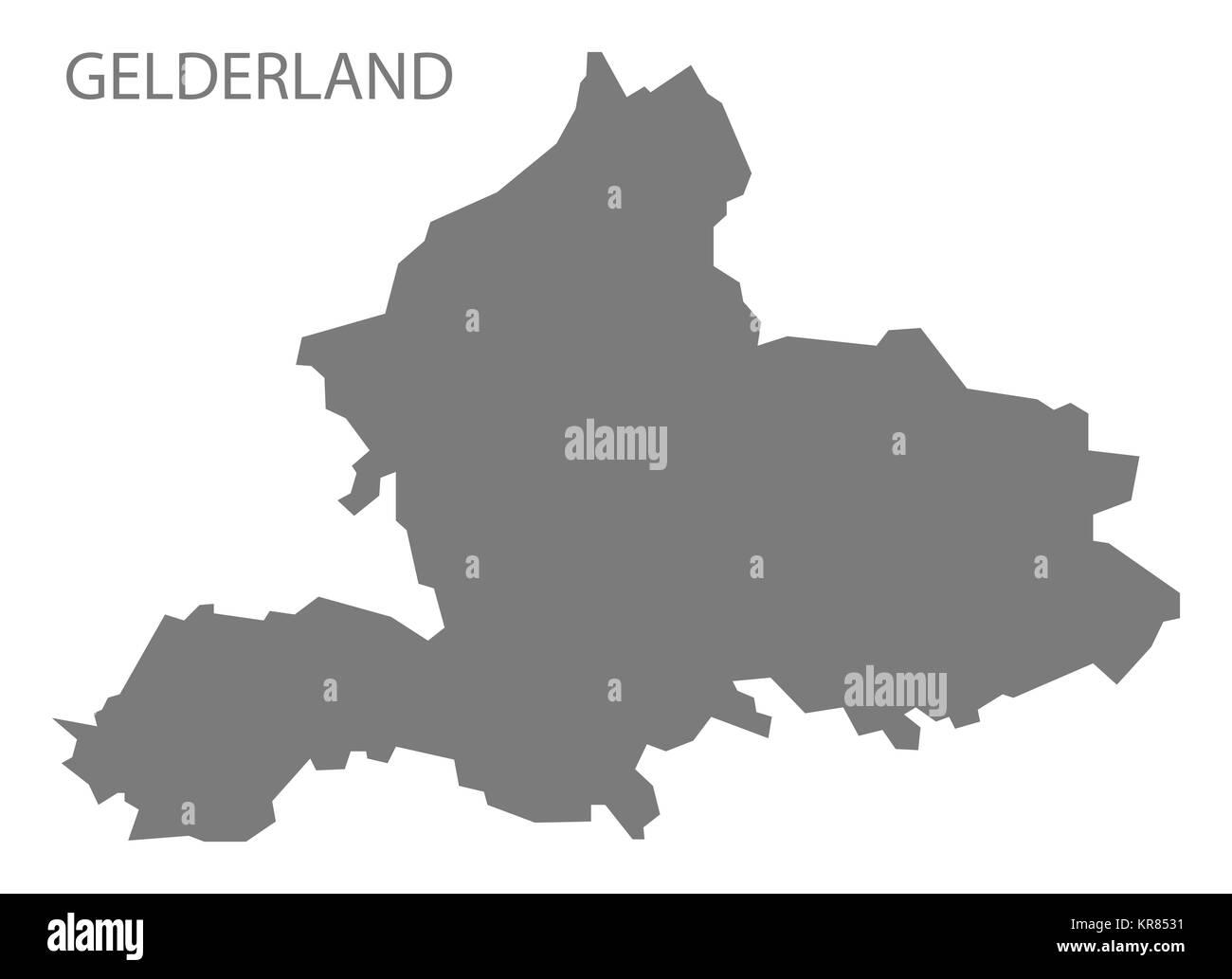 Gelderland Netherlands Map grey Stock Photo 169210021 Alamy