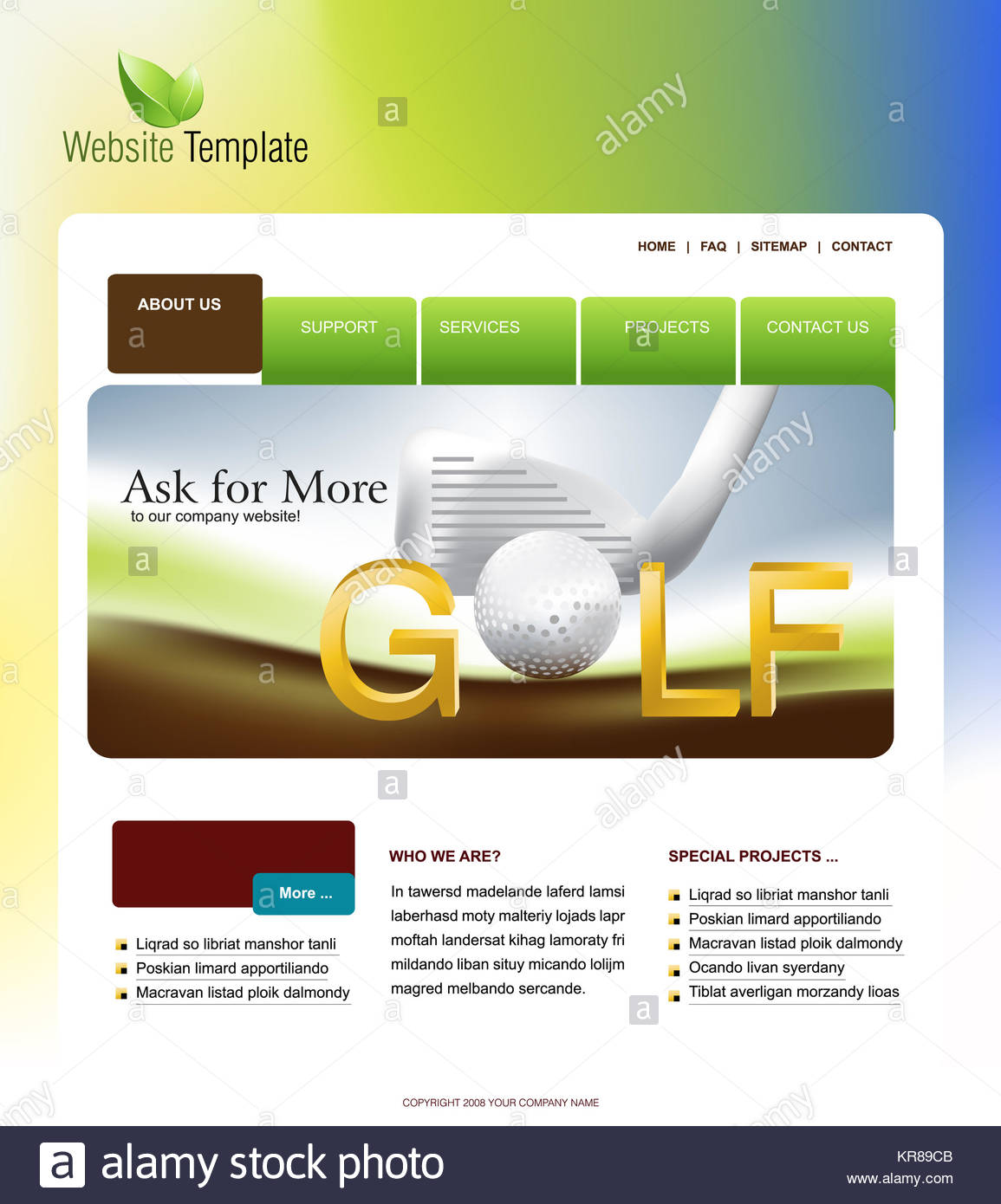 Website Template, easy to use in adobe Photoshop, Flash or Stock ...