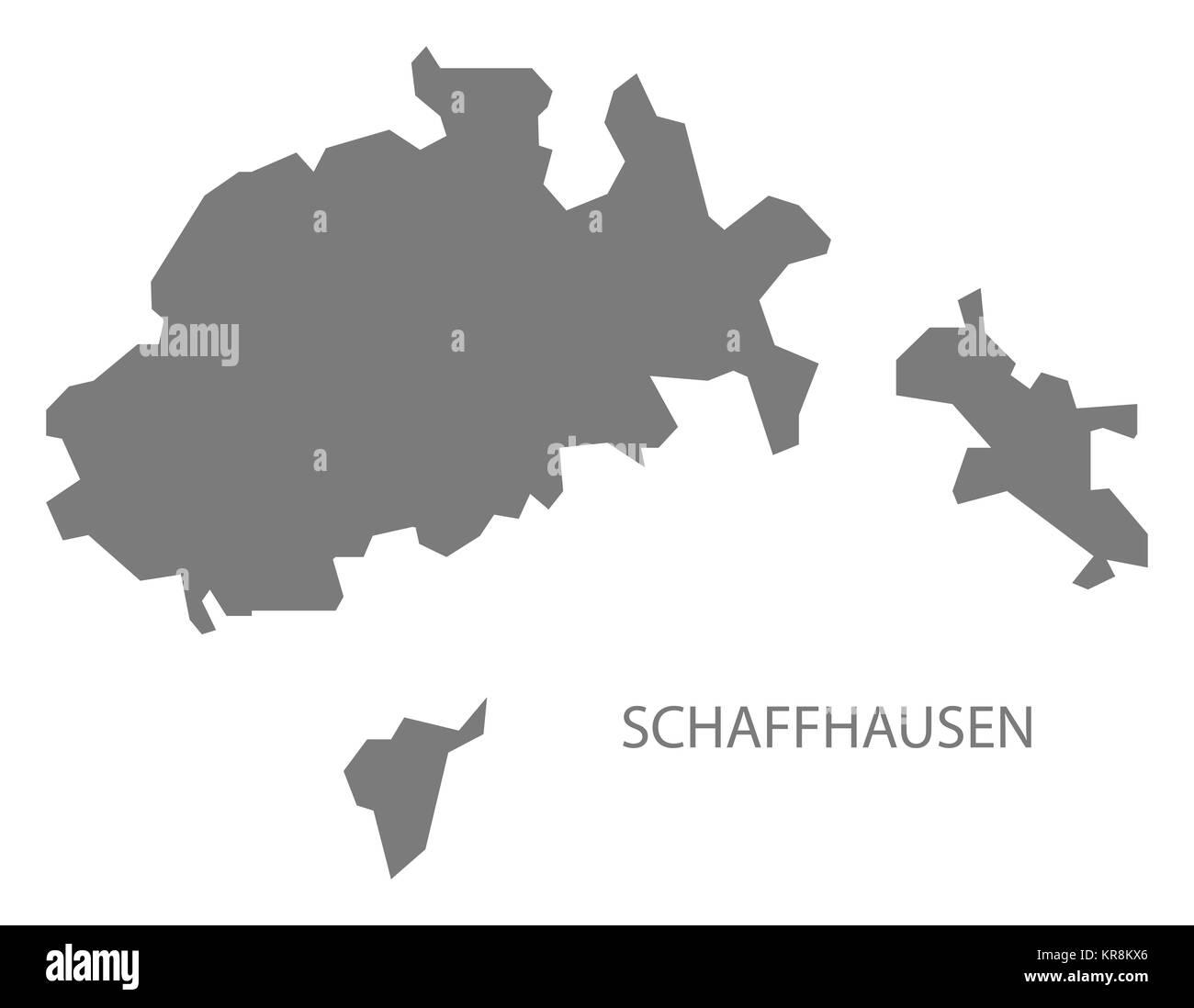 Schaffhausen Switzerland Map grey Stock Photo 169221646 Alamy