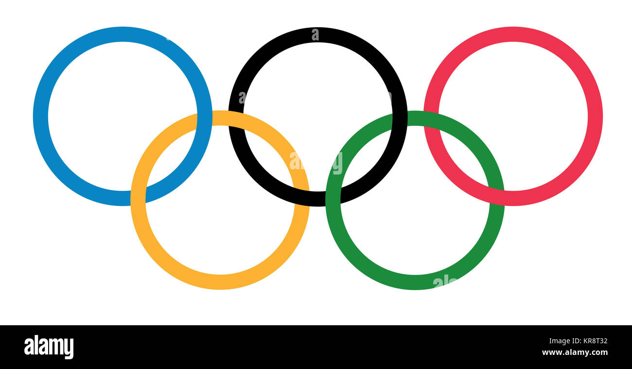 When Were The Olympic Rings Designed | Olympic Rings Design Stock Photo 169224918 Alamy