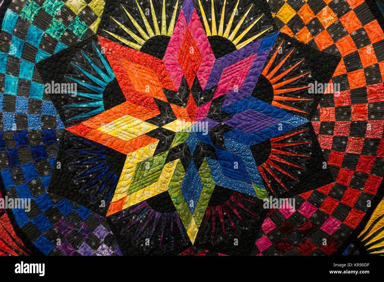 Star Quilt Pattern Stock Photos & Star Quilt Pattern Stock Images ... : quilt show manchester nh - Adamdwight.com
