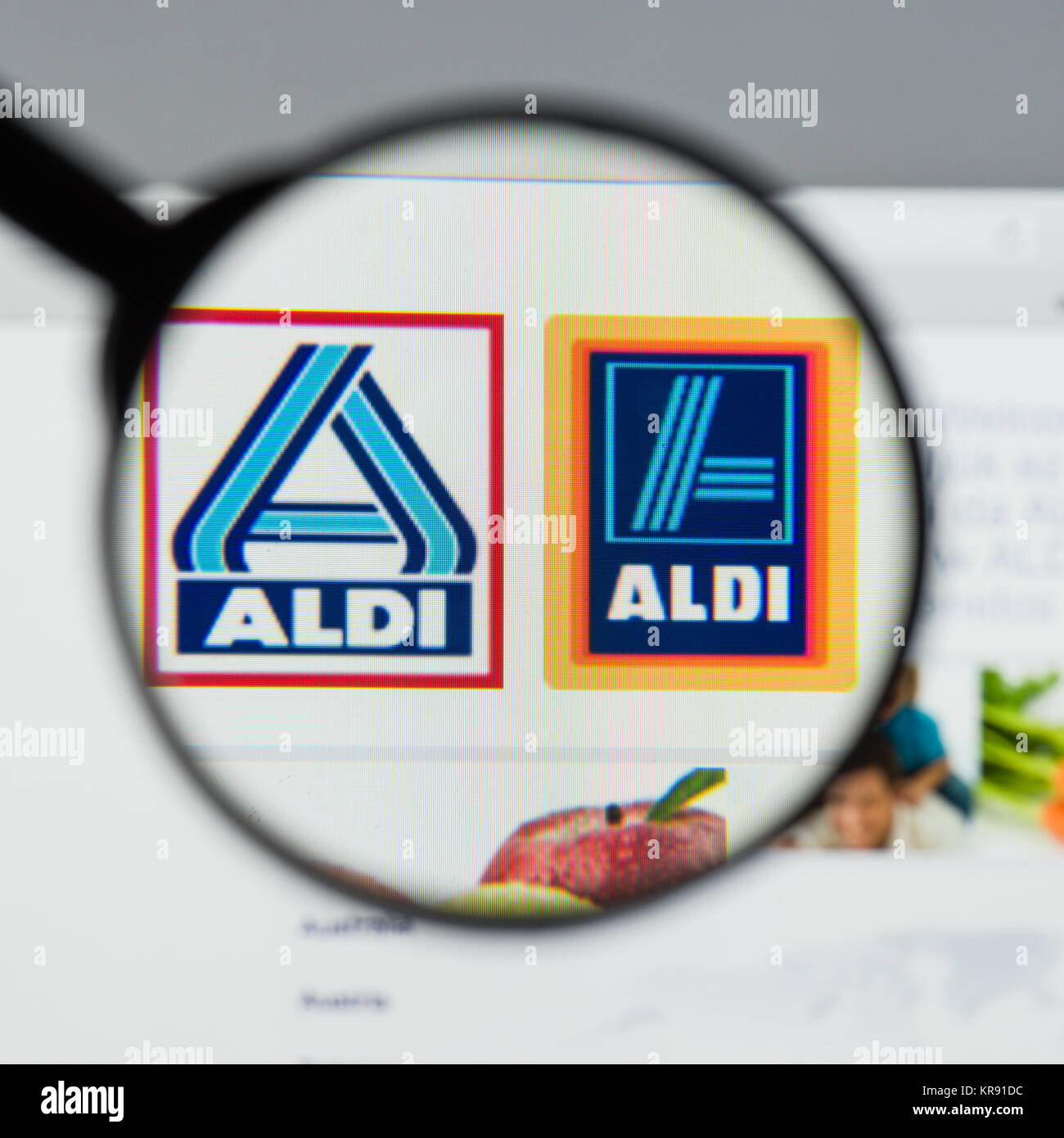 Aldi distribution stock photos aldi distribution stock images milan italy august 10 2017 aldi website homepage it is the biocorpaavc