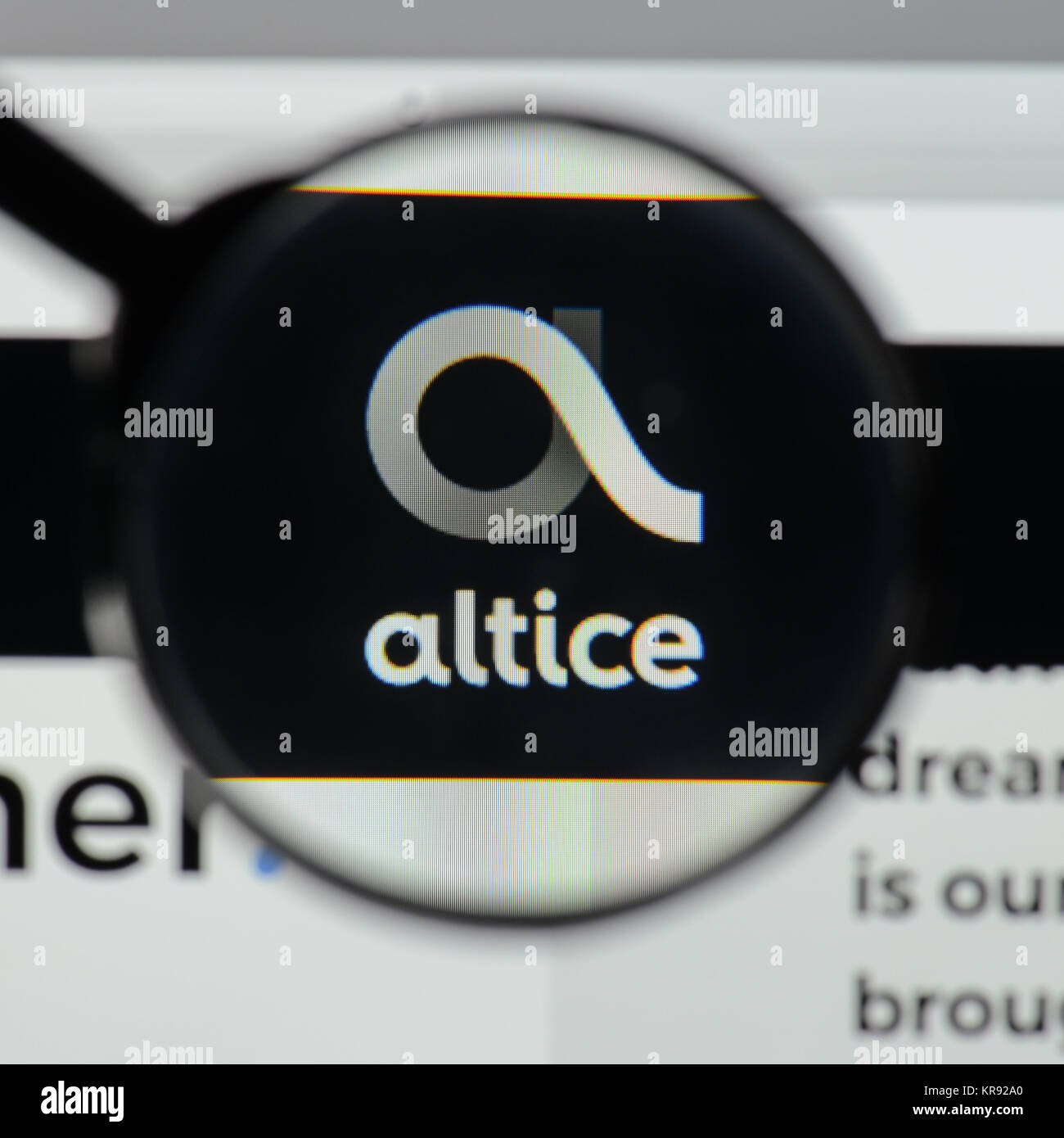 Milan Italy August 10 2017 Altice Logo On The Website Homepage