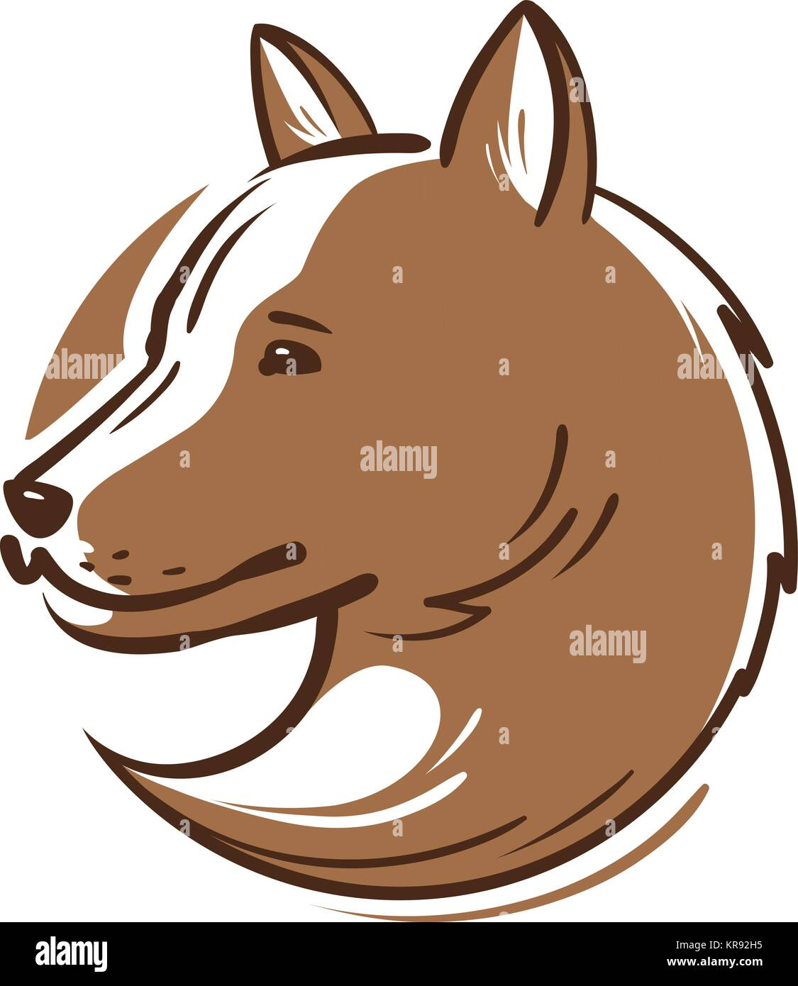 Dog Logo Or Icon Animal Pet Puppy Wolf Emblem Vector Stock