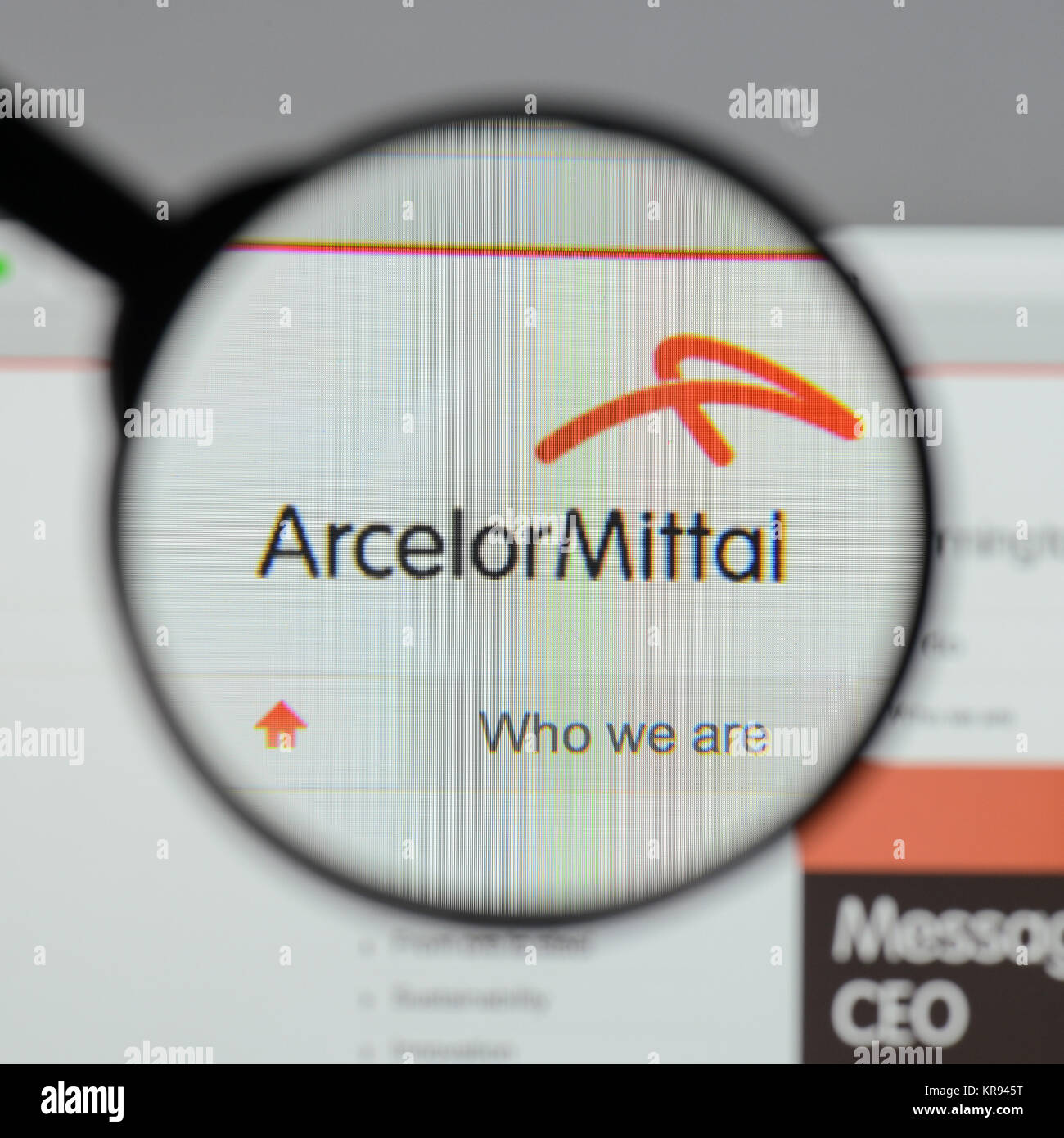 Milan italy august 10 2017 arcelor mittal logo on the website milan italy august 10 2017 arcelor mittal logo on the website homepage buycottarizona
